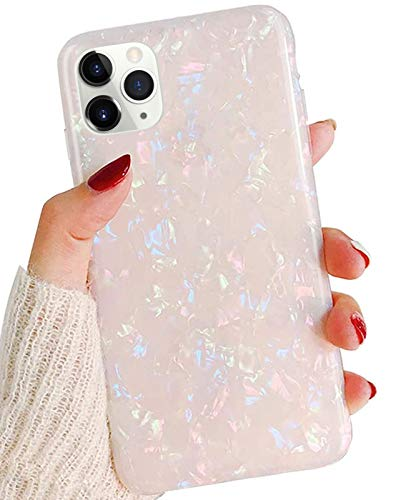 Jwest iPhone 11 Pro Case Luxury Sparkle Translucent Clear Shiny Pearly-Lustre Pattern Print Soft Silicone Cover Slim TPU Sturdy Protective Back Phone Case for iPhone 11 Pro 5.8 inch Colorful