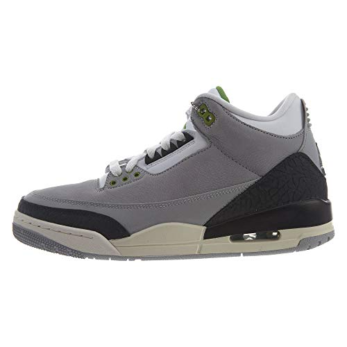 Nike Air Jordan 3 Retro, Zapatillas de Deporte para Hombre, Multicolor (Lt Smoke Grey/Chlorophyll/Black/White 006), 44.5 EU