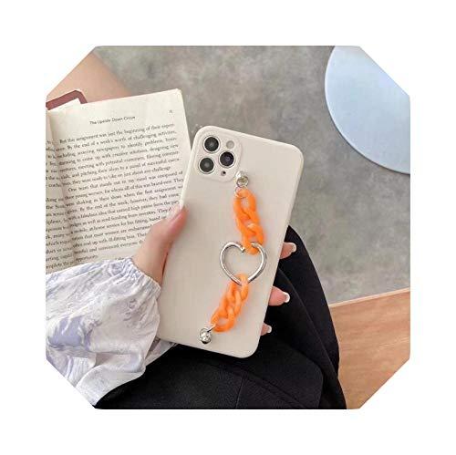 ins Cold Wind Love - Pulsera de silicona para iPhone 11pro para Apple xsmax Mobile Phone Case 8plus/XR