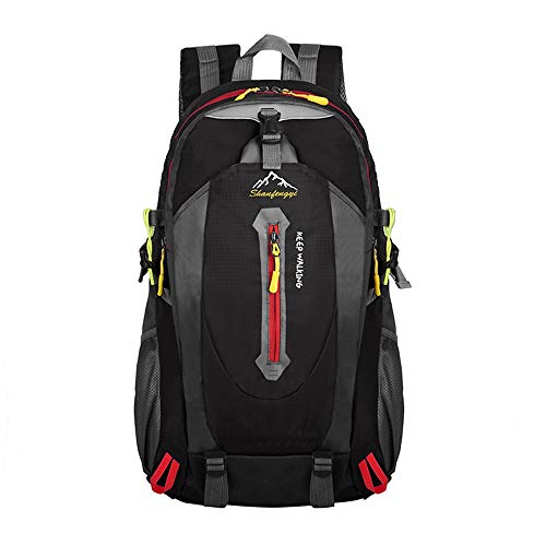 Keliour Hiking Backpack Hiking Backpack 45L Rucksack For Men Women Tear And Water-resistant Ideal For Trekking Travel Outdoor for Outdoor Sports (Color : Black, Size : 45L)