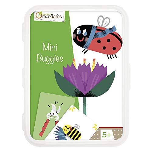 Avenue Mandarine - Jeu de 46 Cartes Mini Buggies - Jeu d'Association & Rapidité - 3 à 5 joueurs - Rassemblez votre Famille d'Insectes, mais Gare aux Plantes Carnivores ! A Partir de 5 Ans - CO105O