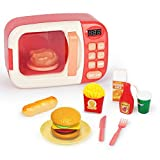 Kinder Kinderküche Spielzeug, Kinder-Mikrowelle Spielzeug Set mit Licht und Sound, Mini Pretend Rollenspiel Play Küche Spielzeug für Kinder
