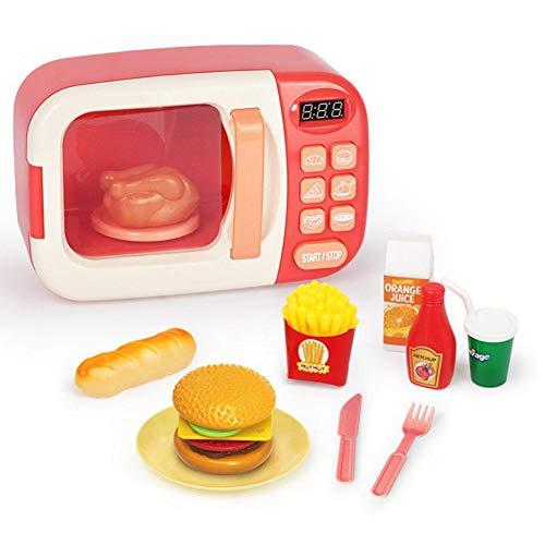 didatecar 10er Set Mikrowelle Spielzeug Küchenspielzeug Kinder Mikrowelle Küchen Spielzeug Für Kinderküche Rollenspiel Für Kinder, Spielset Lebensmitteln Play Food Cooking Set, Küchen Spielzeug