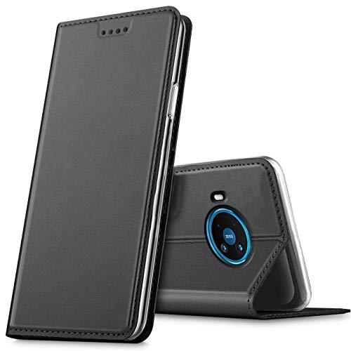 Verco Handyhülle für Nokia 8.3 5G, Premium Handy Flip Cover für Nokia 8.3 Hülle [integr. Magnet] Book Hülle PU Leder Tasche, Schwarz