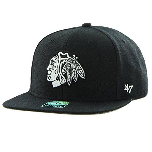 47 Brand Snapback Cap - Sure Shot Chicago Blackhawks Noir