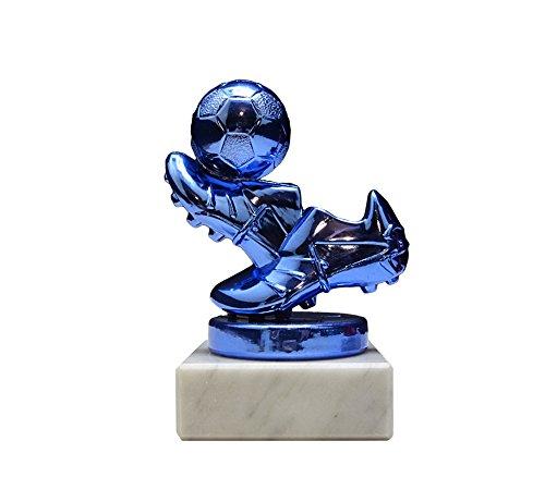 RaRu Kinder-Fussball-Pokal (Blau) mit Ihrer Wunschgravur