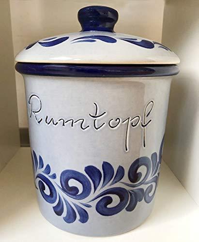 Rumtopf - klassischer Rumtopf blau-grau 5 Liter #Rumtopf