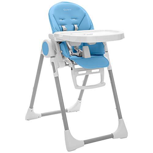 SULENO Kinderhochstuhl LOVIS Babyliege 3-in-1 Kinderstuhl Kindersitz Hochstuhl (Delfin)