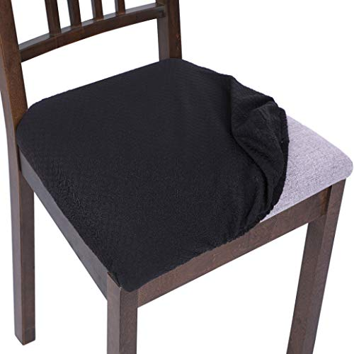 AMURAO Chair Seat Protector Covers Kitchen Stretch Dining Chair Cover Removable Elastic Seat Case Living Room Slipcover