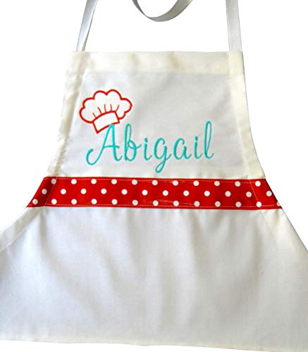 Personalized Apron for Girl Teen Tweens Baking Lots of Colors and Sizes