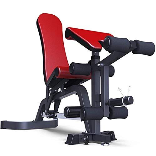 HFJKD DSHUJC Tabourets haltères, Bancs de Musculation Planches Sit-Up Équipement de Fitness intérieur Multifonction, pour la Salle de Gym de Salon à Domicile, Taille: 29 X 59 X 43.5inch,Rouge