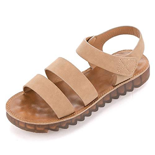 Frauen-Sommer-Plattform-Sandelholze Back Strap Gladiator Slip On Round Toe Creepers Dame Basic Style Casual Flache Sandalen