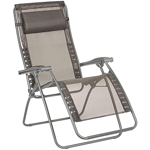 Lafuma Relax-Liegestuhl, Klappbar und verstellbar, RSXA Clip, Batyline, Farbe: Graphite, LFM2035-8717