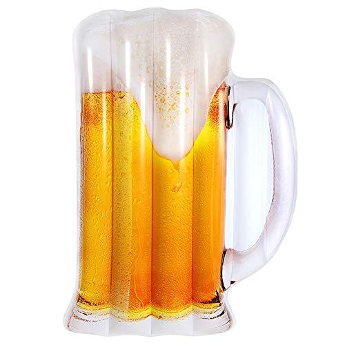 Sebasty Verano adulto agua inflable nueva taza de cerveza flotante fila flotante sofá ocio sala aire cama natación equipo 182 * 104 cm