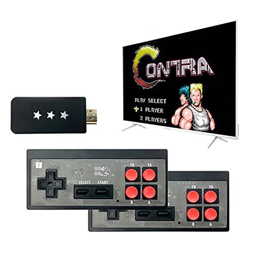 HJkkls Mini Consola De Juegos Retro NES TV, Salida AV Incorporada 620 Juegos Sistema De Entretenimiento De Videojuegos Plug and Play De 8 bits con Dos Controladores con Cable