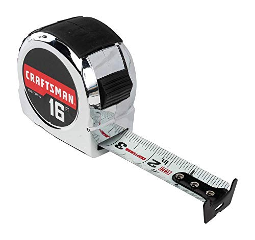 CRAFTSMAN Tape Measure, Chrome Classic, 16-Foot (CMHT37316S)