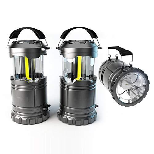 AMP ePro 360LM COB LED Camping Lampe Laterne Nachtlicht, mit 80LM Notfallleuchte, tragbar regendicht Winddicht, Idee für Outdoor Ausflug Wandern Bergsteigen Notfall Stromausfall u.a. (2 Stücke)