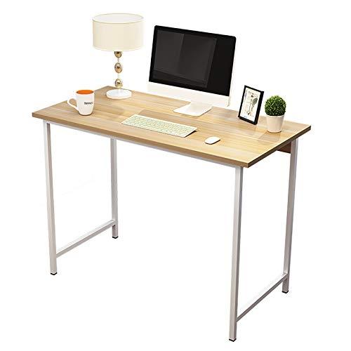 Escritorios Escritorio para computadora, escritorio moderno y resistente de 39.4 ', mesa plegable que ahorra espacio Escritorio simple para oficina en casa, fácil de montar ( Color : Light walnut )
