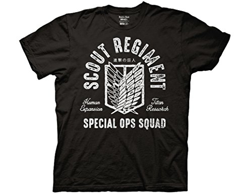 Ripple Junction Attack on Titan Scout Regiment Special OPS Squad Adult T-Shirt Small Black