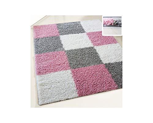 Keymura GmbH Teppich Hochflor Shaggy Pflegeleicht Harmony TOP Preis vom Herrsteller versch. Farben, Größe (Pink, 160 x 230 cm)