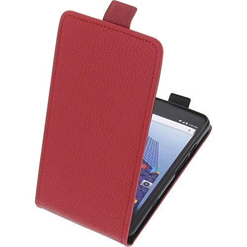 foto-kontor Tasche für Archos Access 50 4G Smartphone Flipstyle Schutz Hülle rot