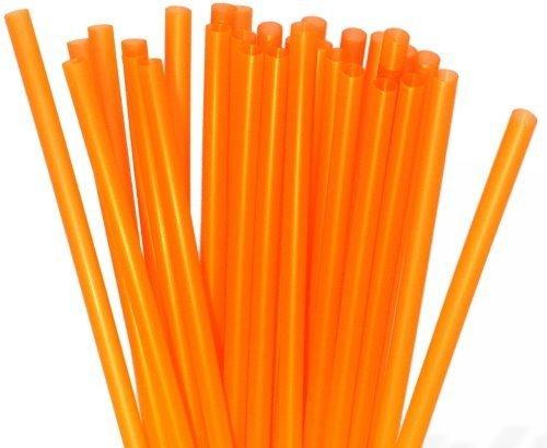 Lot de 1000 pailles rigides droites, 21 cm, couleur orange