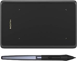 تابلت H420X لرسم الجرافيكس من هويون، مقاس 4.17 × 2.6 انش مع قلم خالٍ من البطارية يبلغ 8192 مستوى، يدعم Android وويندوز وما...