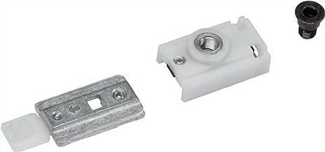 Vergrendeling unit RF-GN z. glijrail G-N zilver frb.Openingshoek b.150 graden