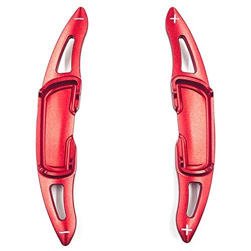 UNDKI Auto Lenkräder Schaltpaddel Aluminium-Lenkrad-Paddel-Schalthebel-Erweiterungen deckt 2 Stück (rot) kompatibel mit Mazda 3 6 Axela Atenza CX-3 CX-5 MX-5 CX-9 Auto Schaltwippen (Color : Red)