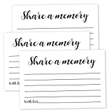 50 Pack Share a Memory Cards, Share a Memory Card for Funeral, Birthday, Retirement, Anniversary, Wedding, Celebration of life, Going Away Party Decorations, 4x6 Inch
