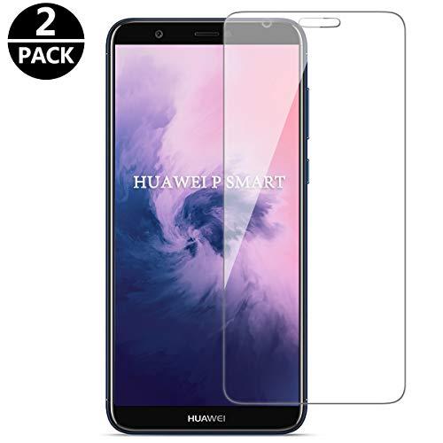 FUMUM Schutzfolie für Huawei P Smart, Premium HD Anti-Kratzer Glasfolie 9H Bildschirmschutzfolie für Huawei P Smart Folie aus Glas[Bubble-frei] [Anti Fingerabdruck]