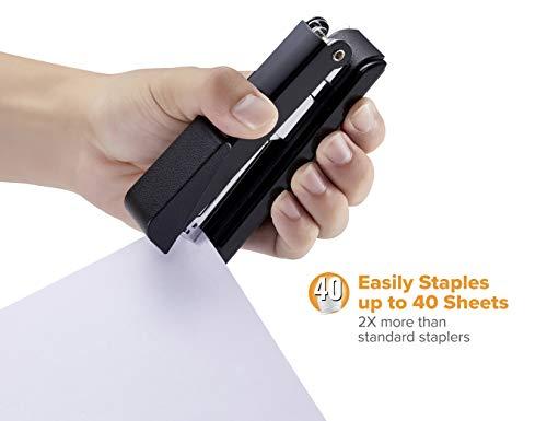 Bostitch Office B8RCFC B8 PowerCrown Flat Clinch Premium Stapler, 40-Sheet Capacity, Black Photo #3