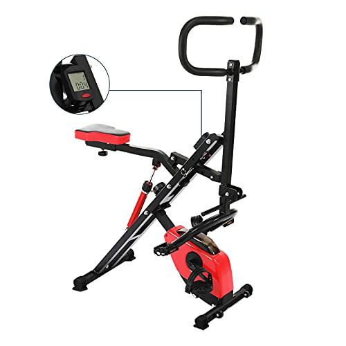 Femor Heimtrainer , Bike Sport Fitnessfahrrad,Fitnessbike, klappbarer Hometrainer ,12 einstellbare magnetische Spannstufen,LCD-Display, für Bauchmuskeln, Gesäß, Beine, Oberschenkel und Arme