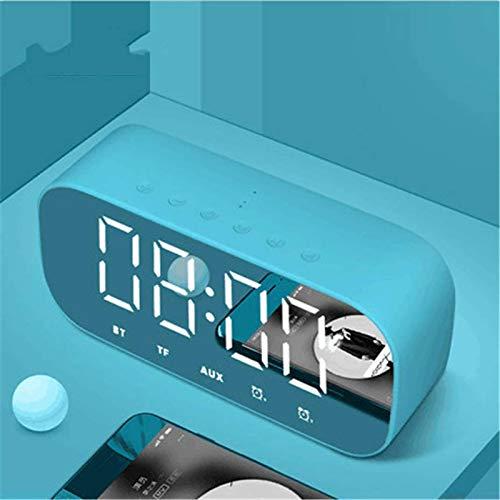 Alarma Electrónica Reloj Multifunción Reloj De Dígitos Wireless FM Radio Reloj USB Interior Al Aire Libre Inalámbrico Despierto Con Función De La Función Termómetro Higrómetro 3 Niveles Brillo,Azul