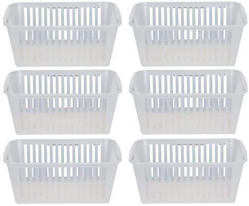 Straame 25cm Clear Plastic Handy Basket Storage Basket - Set of 6