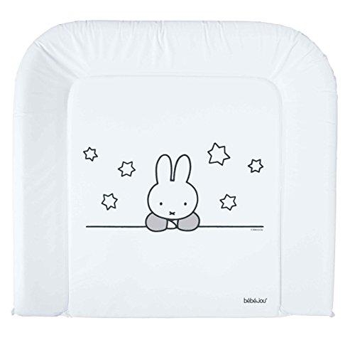 bébé-jou 680282 Wickelauflage 3K, Miffy Stars, 72 x 76 cm