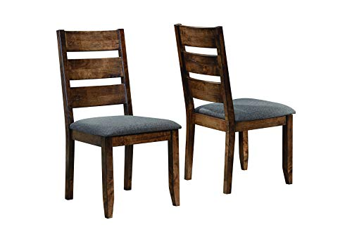 Alston Ladderback Dining Side Chairs Knotty Nutmeg and Grey (Set of 2)