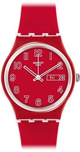 Swatch Unisex Digital Quarz Uhr mit Silikon Armband GW705