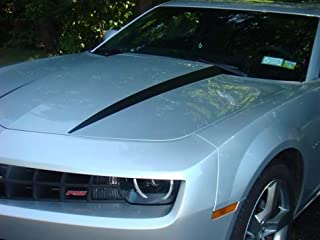 Hood Spear Decal Graphic Stripes - 2010-2015 Camaro - (Color: Gloss Black)