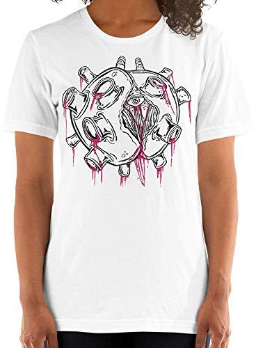 Zombie Virus Pandemic Quarantine Graphic Tee Design Women's T-Shirt White