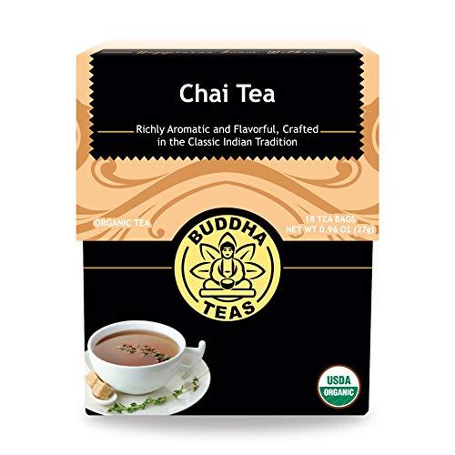 Organic Chai Tea - Kosher, Contains Caffeine, GMO-Free - 18 Bleach-Free Tea Bags