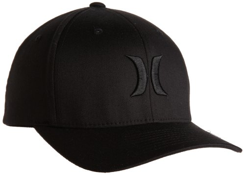 Hurley Men's One and Only Flexfit Hat, Black, Small/Medium