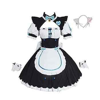 Nekopara Anime Cosplay Women Full Set Cat Girl Maid Servant Dress Lolita Dress Vanilla Chocola Cosplay Costume Dress