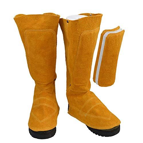 Cubierta Del Pie De Cuero Soldadura Eléctrica Resistente Al Desgaste Aislamiento Flor De Fuego Salpicaduras Calzados Del Pie Zapatos De Soldador Protección Aproximadamente 44 30 Cm / 17.32 11.81in
