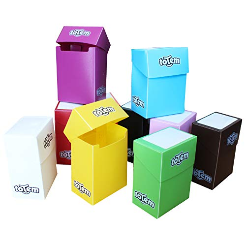 Totem World 10 Premium Deck Boxes in Assorted Bright Colors - Compatible with Pokemon, Yu-Gi-Oh, and Magic The Gathering Cards - Durable Plastic - Perfect Party Favors Or Kids Birthday Gifts