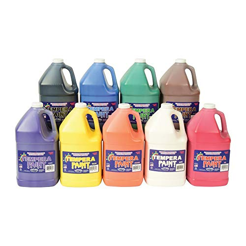 Constructive Playthings CPX-056 Constructive Playthings Washable Tempera Paint - Set of 9 Pints