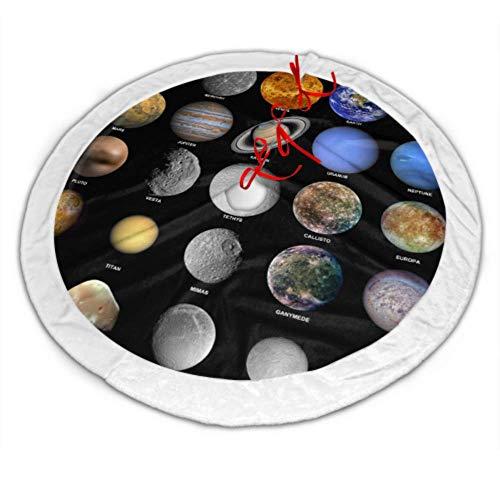 Falda de árbol Retro Todos los Planetas Que componen el Sistema Solar...