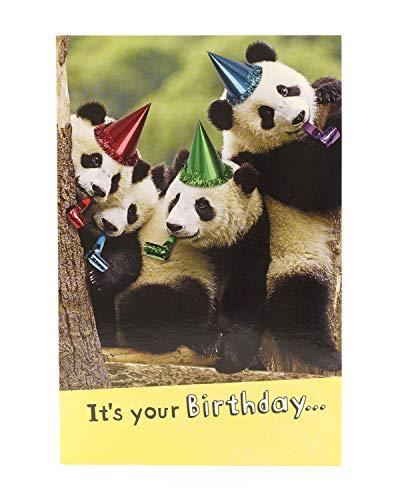Hanson weiß 346799–0Funny Panda Geburtstagskarte