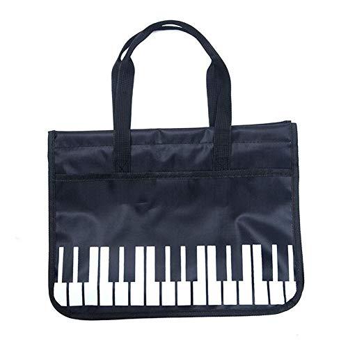 mooderff Musiktasche, wasserdichte Oxford-Stoffhandtasche, Sheet Music Document Bag Musik Notentasche