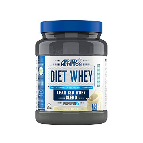 Applied Nutrition Diet Whey Protein Powder Supplement Low Carb High Protein, Weight Loss, with CLA Gold, L Carnitine, Green Tea, High Phd Standard 450g - 18 Servings (Vanilla Ice Cream)